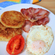 Stock Photo: Fried breakfast vertical