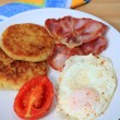 Fried breakfast vertical - Stock Photo