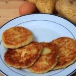 Potato pancakes vertical — Stock Photo