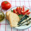 Stock Photo: Sardines with tomato and bread