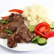 Lamb chop meal — Stock Photo
