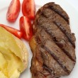 Stock Photo: Grilled New York steak vertical