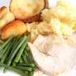 Festive turkey dinner — Stock Photo