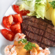 Stock Photo: Surf and turf meal
