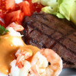 Surf and turf meal - Stock Photo