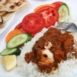 Chicken tikka masala meal - Stock Photo