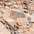 Zakros stone seat - Stock Photo