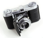 Antique 35mm film camera — Stock Photo