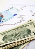 Euro dollar exchange vertical — Stock Photo