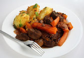 French style beef and carrot stew — Stock Photo