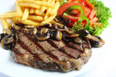 Grilled ribeye steak dinner — Stock Photo