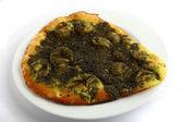 Zatar manakish arabic snack — Stock Photo