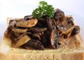 Mushrooms on toast — Stock Photo