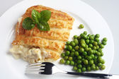 Traditional seafood pie — Stock Photo