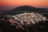 Sunset over Fira, Santorini — Stock Photo