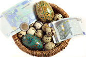 Euro nest egg from above — Stock Photo