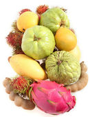 Tropical fruits from above — Stock Photo