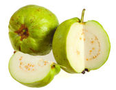 Guava fruits over white — Foto Stock