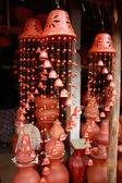 Handicraft pottery wind chimes — Stock Photo