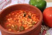 Greek white bean soup horizontal — Stock Photo