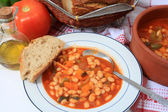 Greek white bean soup horizontal — Stock Photo