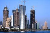Doha construction boom — Stock Photo