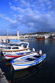 A view of the Venetian era harbour at Rethymnon — Stock Photo