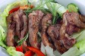 Lamb chops serving bowl — Stock Photo