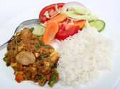 Vegetable shabnam vegetarian curry closeup — Stock Photo