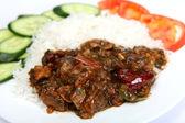 Beef szechuan meal — Stock Photo