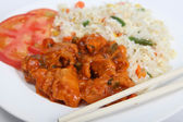 Sweet and sour chicken — 图库照片