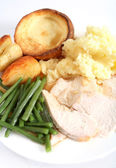 Festive turkey dinner — Stockfoto