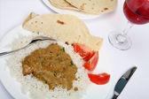 Chicken korma curry horizontal — Stock Photo