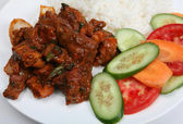 Beef chilli curry closeup — Stok fotoğraf