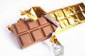 Bar of chocolate — Stock Photo