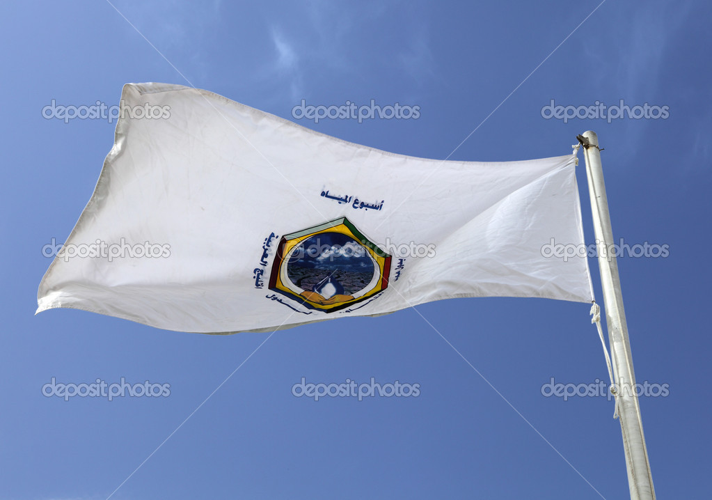 The flag of the Arab Gulf Co-operation Council, grouping the six wealthiest states of the Arabian Peninsula, Saudi, Kuwait, the UAE, Qatar, Oman and Bahrain — Stock Photo #7053650