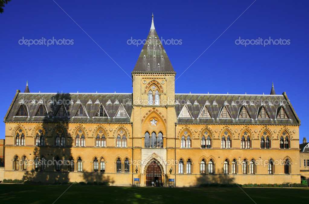 The Natural History Museum at Oxford University, a listed building noted for its neo-gothic architecture.  Stock Photo #7054099