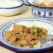 Beef stroganoff meal horizontal — Stock Photo