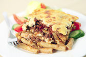 Pastitsio meal shallow depth of field — Stock Photo