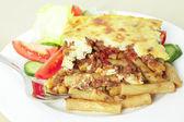 Pastitsio meal deep focus — Stock Photo