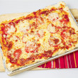 Whole Sicilian pizza high angle — Stock Photo #7600618