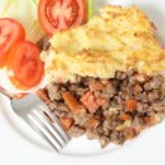 Shepherds pie meal high angle — Stock Photo