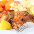 Stock Photo: Lemon chicken meal