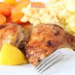 Lemon chicken meal — Stock Photo
