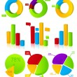 Charts Illustration — Stock Vector