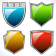 Set of vector shields - Stock Vector