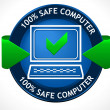 Safe PC Badge — Stockvektor
