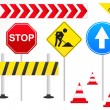 Stock Vector: Road Signs Illustration