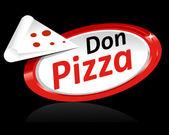 Pizza Illustration Template — Stock Vector