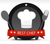 Chef Badge — Stock Vector